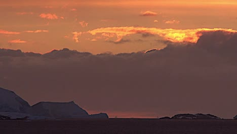 Antarctica-Sunset-And-Clouds-Zoom-Out