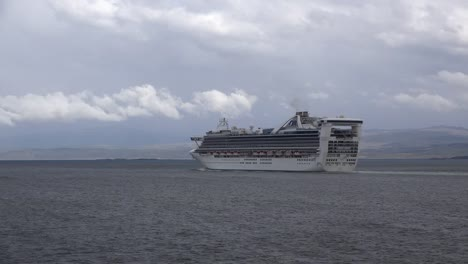 Argentina-Strait-Of-Magellan-With-Cruise-Ship
