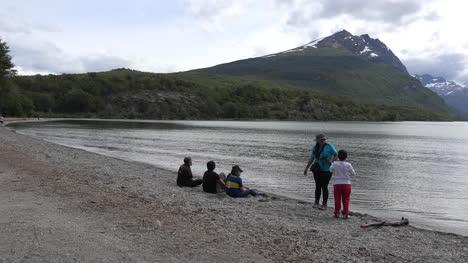 Argentina-Tierra-Del-Fuego-Children-At-Lake