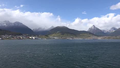 Argentina-Ushuaia-View-Of-City-And-Clouds