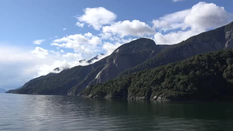 Chile-Aisen-Fjord-Mountainside-View