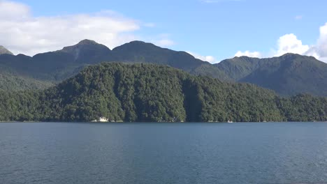 Chile-Aisen-Fjord-Passing-View-With-Small-Boat