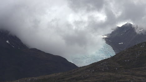 Chile-Beagle-Channel-Cloud-Over-Glacier-Zooms-Out