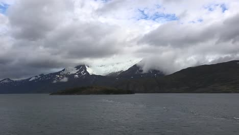 Chile-Beagle-Channel-With-Clouds-And-Glacier