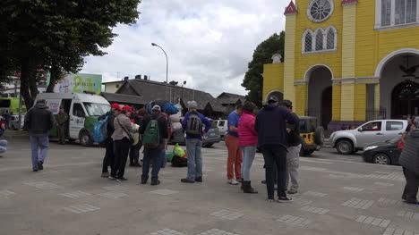 Chile-Chiloe-Castro-Plaza-With-Tourists