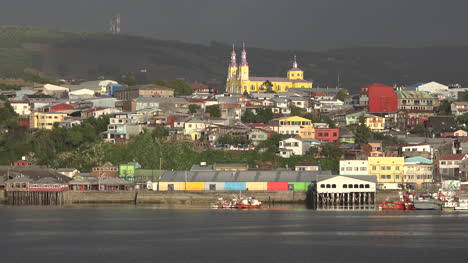 Chile-Chiloe-Castro-With-Yellow-Church