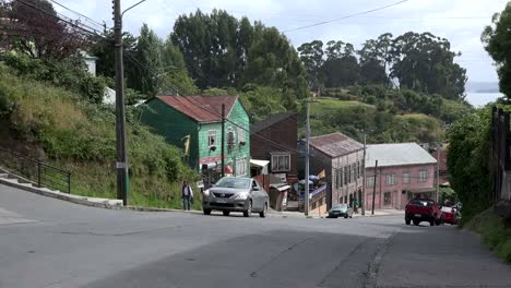 Chile-Chiloe-Chonchi-Looking-Down-Street