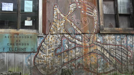 Chile-Chiloe-Chonchi-Painting-On-Wall