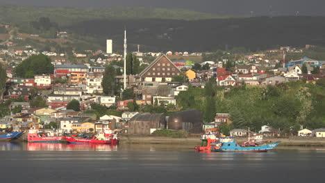 Chile-Chiloe-Boats-Moored-At-Castro