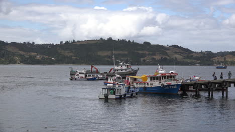 Chile-Chiloe-Excursion-Boats-And-Dock