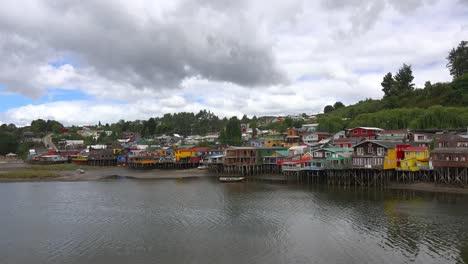 Chile-Chiloe-Palafitos-In-Gamboa-On-Fiordo-De-Castro