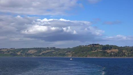 Chile-Estero-De-Castro-Small-Boat-And-Wake
