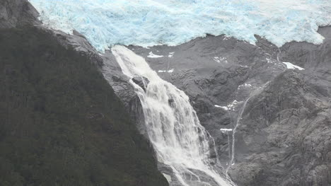 Chile-Glacier-Alley-Waterfall-From-Glacier