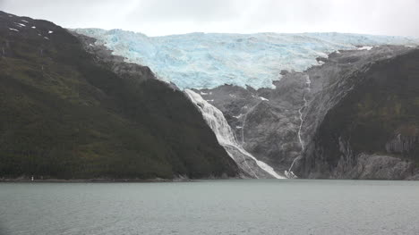 Chile-Glacier-Alley-Zooms-On-Glacial-Waterfall