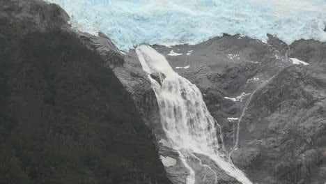 Chile-Glacier-Alley-Zooms-Out-From-Glacial-Waterfall