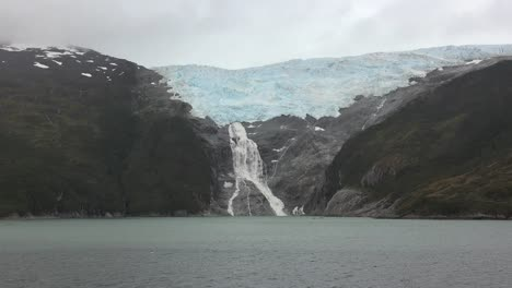Chile-Glacier-Alley-Zooms-To-Glacial-Waterfall