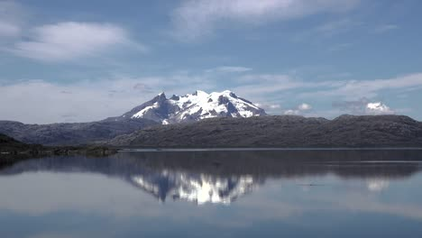 Chile-Mount-Burney-Volcano-With-Reflection