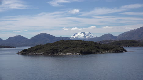 Chile-Mount-Burney-Volcanic-Peak-Beyond-Island