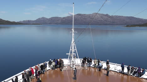 Chile-Passengers-On-Bow-Of-Ship-Time-Lapse-Zoom