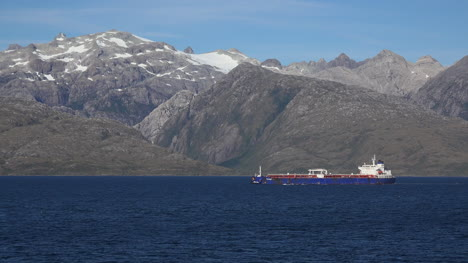 Chile-Strait-Of-Magellan-Freighter-Sails-Past-High-Mountains
