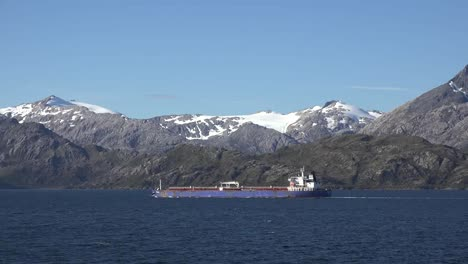 Chile-Strait-Of-Magellan-Ship-Sailing-By-Mountains