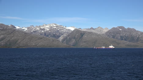 Chile-Strait-Of-Magellan-Zooms-On-Freighter-Plying-Through-Fjord