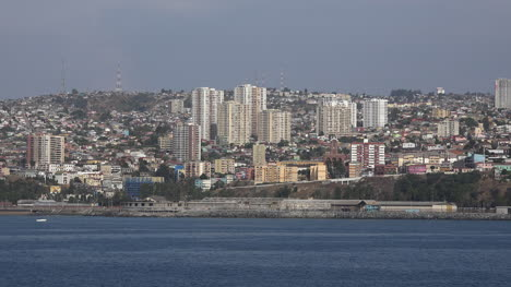 Chile-Valparaiso-City-View-From-Ship