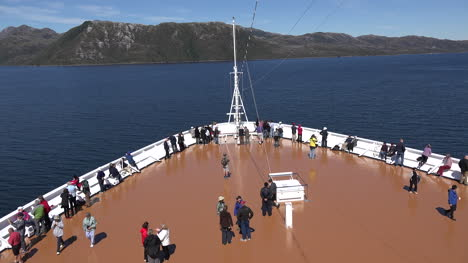 Chile-Passengers-Gather-On-Bow-Of-Ship-Time-Lapse