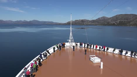 Chile-Passengers-Watch-The-Sights-From-Bow-Of-Ship-Time-Lapse