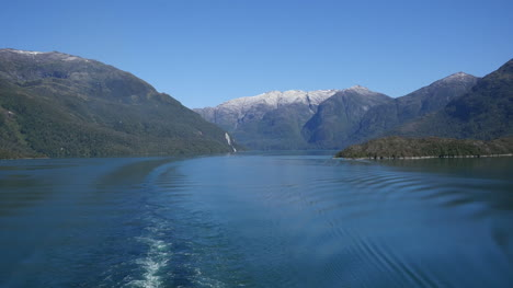 Chile-Wake-From-Ship-In-A-Fjord