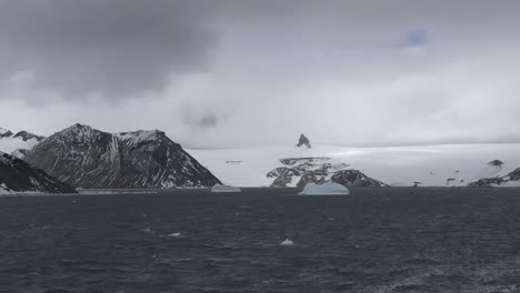 Antarctica-Admiralty-Bay-Vista-On-A-Cloudy-Day