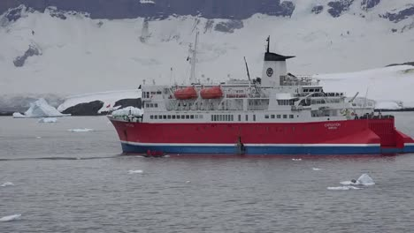 Antarctica-Expedition-Ship-And-Inflatable-Boat
