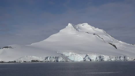 Antarctica-Pyramid-Shaped-Snowy-Peak