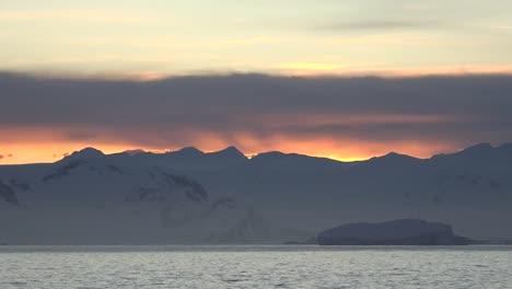 Antarctica-Sunrise-Over-Hills