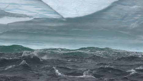 Antarctica-Waves-On-Iceberg