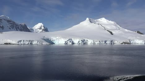Antarctica-White-Cone-Shaped-Mountain
