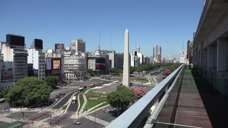Argentina-Buenos-Aires-July-9-Avenue-From-Balcony