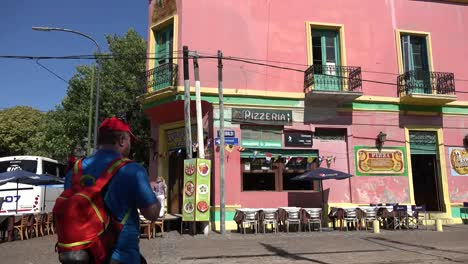 Argentina-Buenos-Aires-La-Boca-With-Tourist-Taking-Picture