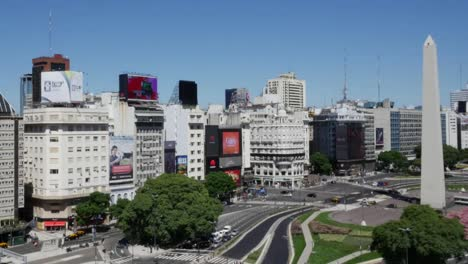 Argentina-Buenos-Aires-Avenue-With-Obelisk-Zoom-And-Pan