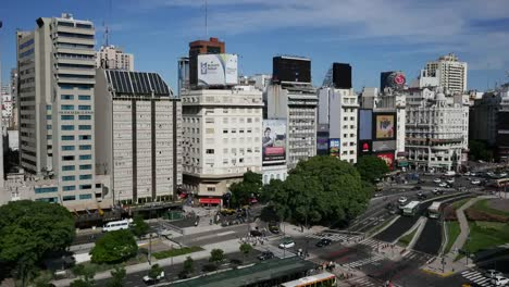Argentina-Buenos-Aires-Avenue-With-Traffic-Time-Lapse