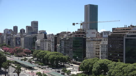 Argentina-Buenos-Aires-Central-City-With-Construction-Crane