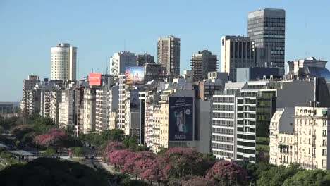 Argentina-Buenos-Aires-Downtown-Time-Lapse-Pan-And-Zoom