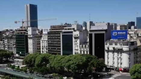 Argentina-Buenos-Aires-Looking-Down-Avenue-With-Traffic