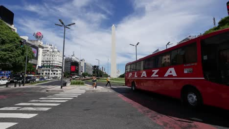 Argentina-Buenos-Aires-Obelisk-And-Buses