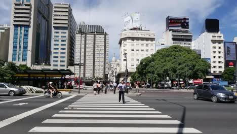 Argentina-Buenos-Aires-Pedestrian-Crosswalk-Zooms-In