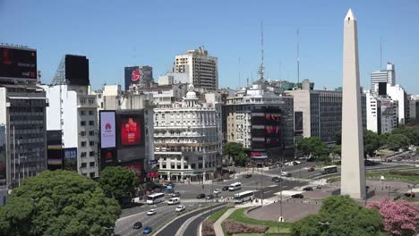 Argentina-Buenos-Aires-Rapid-Time-Lapse-On-July-9-Avenue