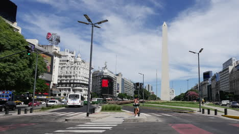 Argentina-Buenos-Aires-Street-Scene-With-Obelisk-Pan