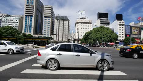 Argentina-Buenos-Aires-Traffic-At-Crosswalk