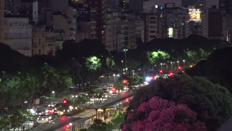 Argentina-Buenos-Aires-Traffic-At-Night