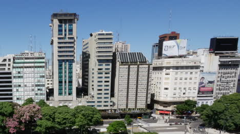 Argentina-Buenos-Aires-Wide-Angle-View-Of-Downtown-Pan
